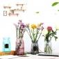 批�l�W式彩色玻璃花瓶透明折�花瓶插花器��意�F代��s家居�品